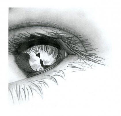 Глаз нарисованный карандашом
