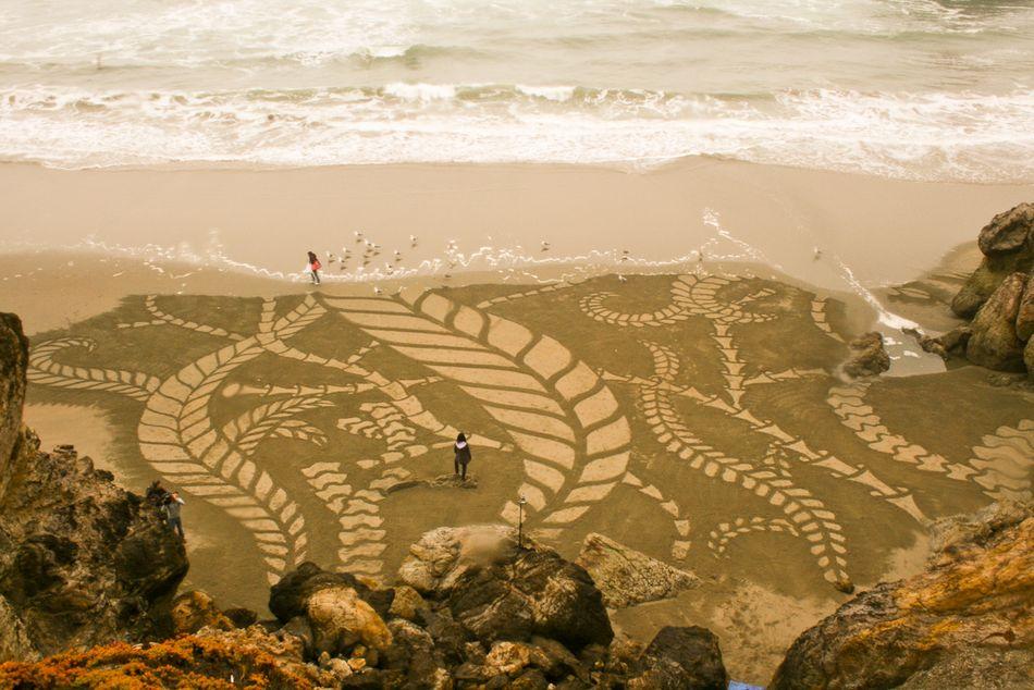 рисунки фото на песке