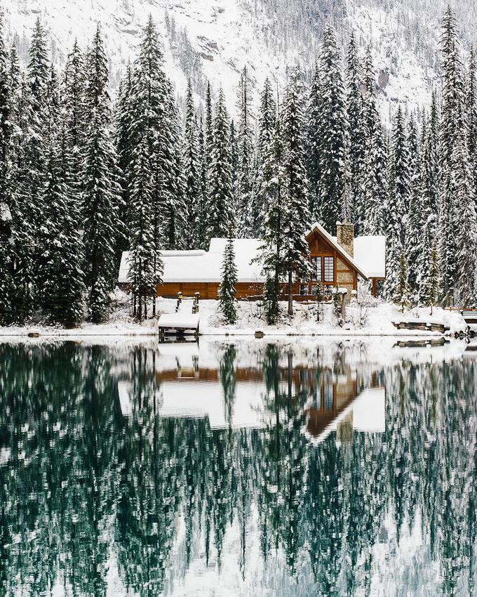 зимний пейзаж с виллой фото эфире