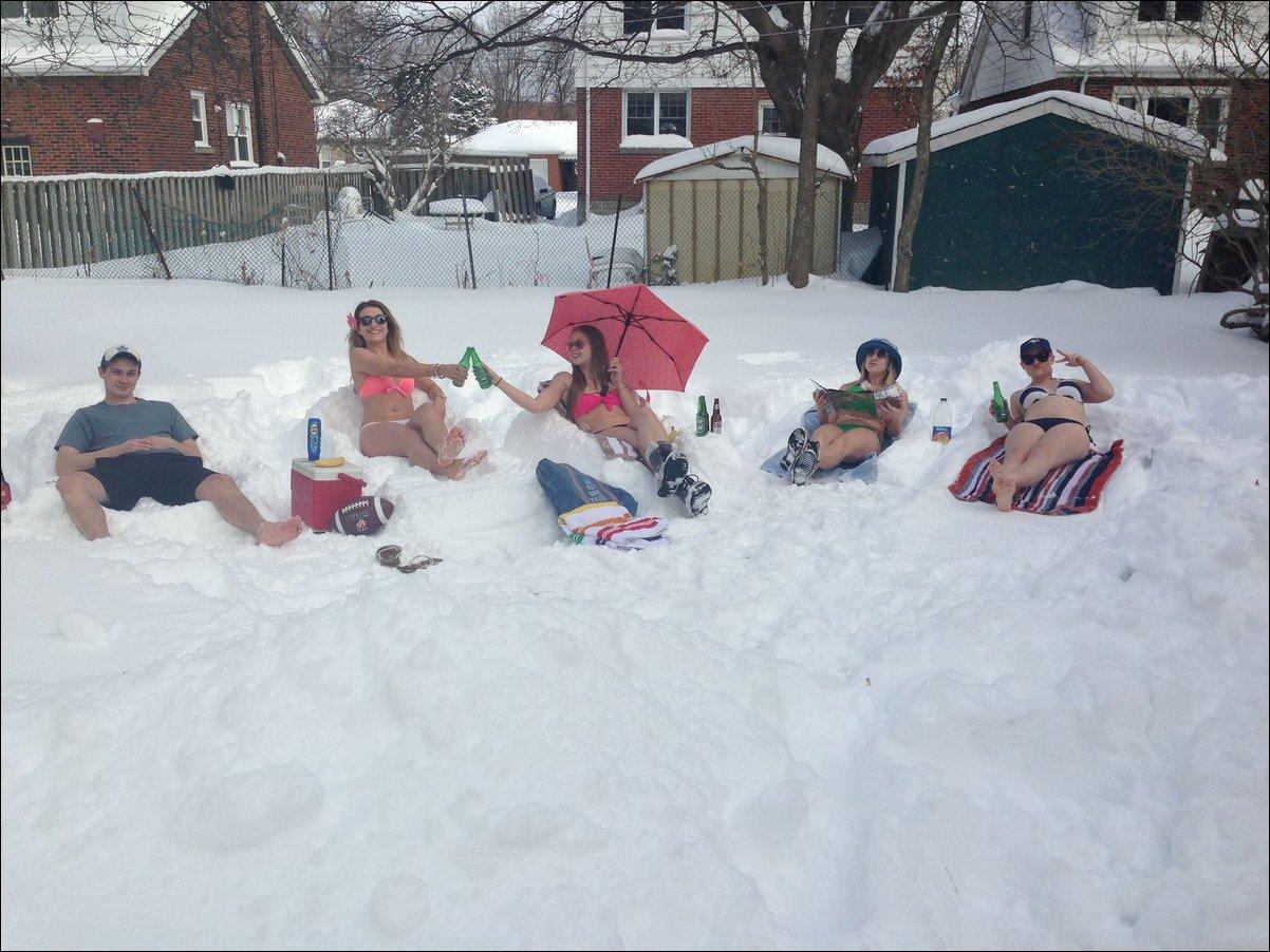Прикольные картинки летом снег