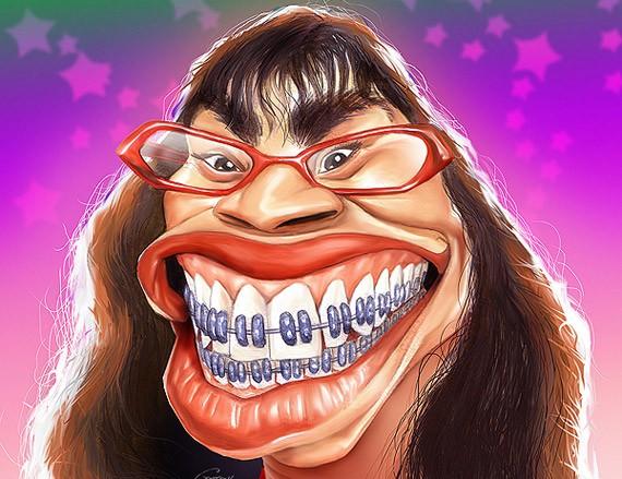 Видео, смешные рисунки на лице человека