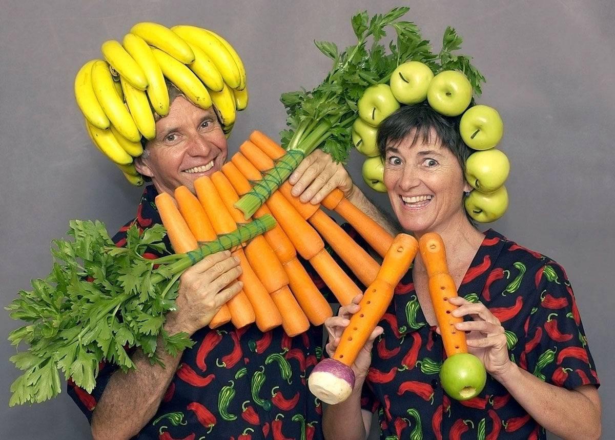 Рисунок карандашом, картинки прикольных овощей и фруктов
