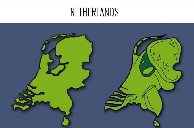 На что похожи Европейские страны