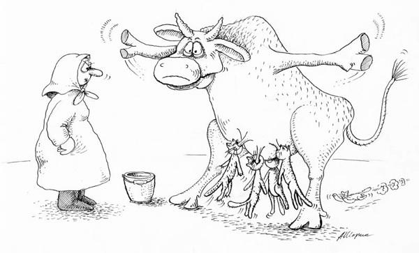 Карикатуры и забавные картинки карандашом