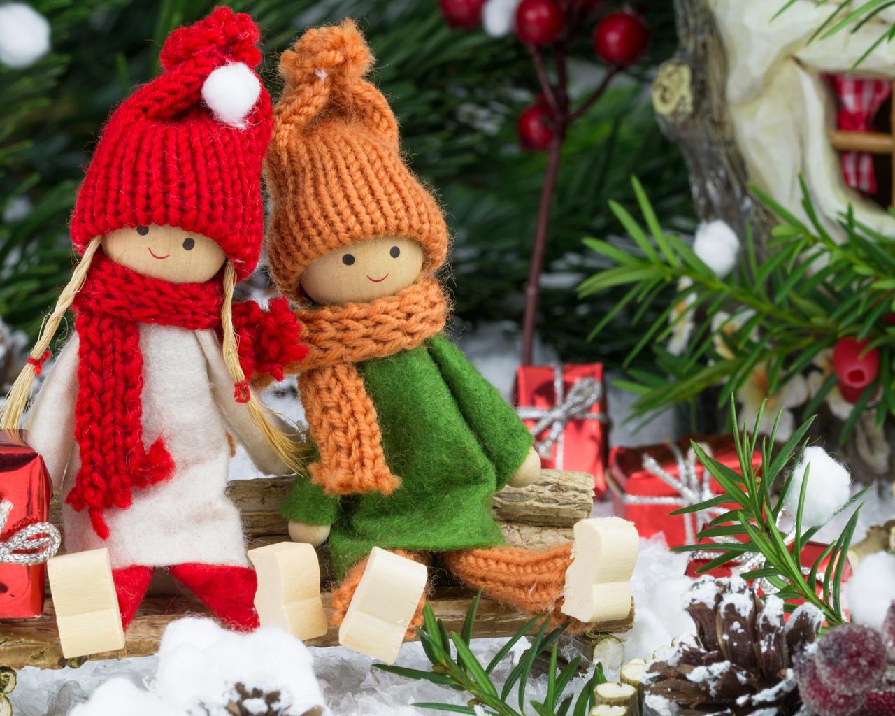 Широкоформатные обои на рабочий стол зима новый год