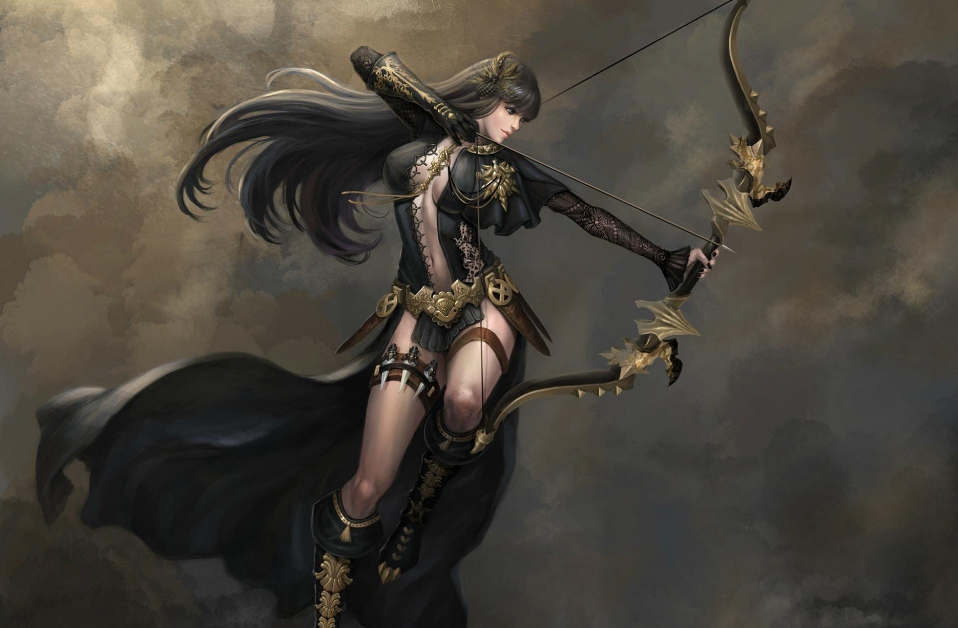 Девушки воины с луком картинки
