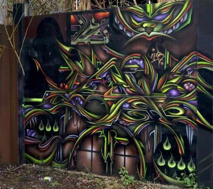 Шикарные граффити на стенах