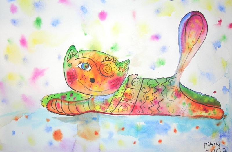 Забавные иллюстрации кошек