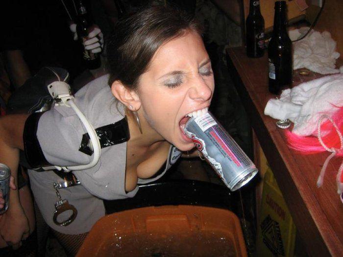 Что девушке помещается в рот