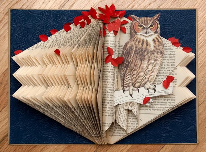 Объемные картинки из книг своими руками