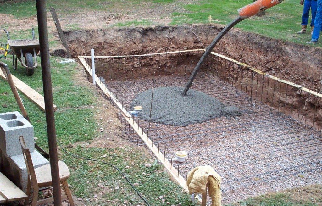 поэтапное бетонирование