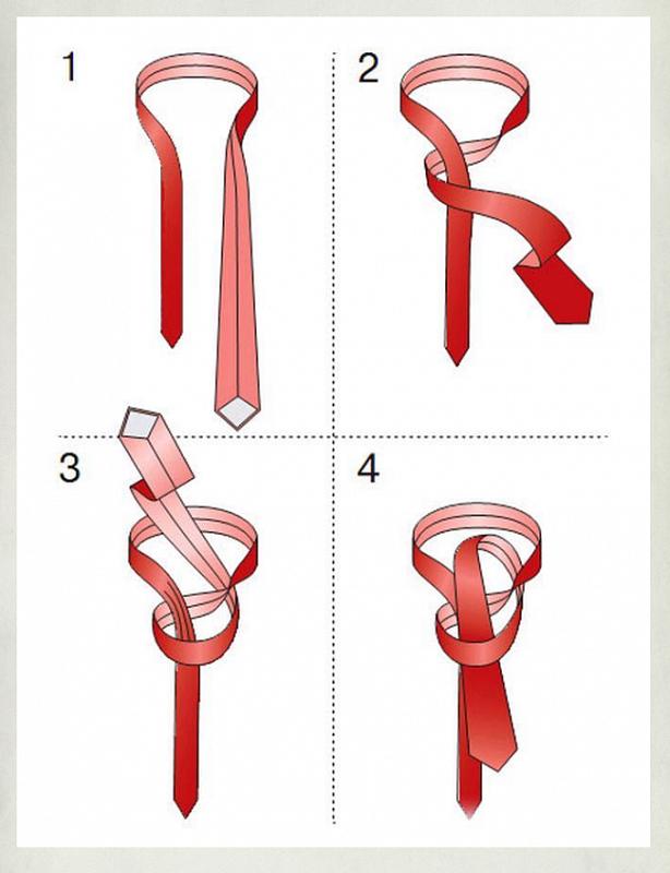 разные способы завязывания галстука фото писал