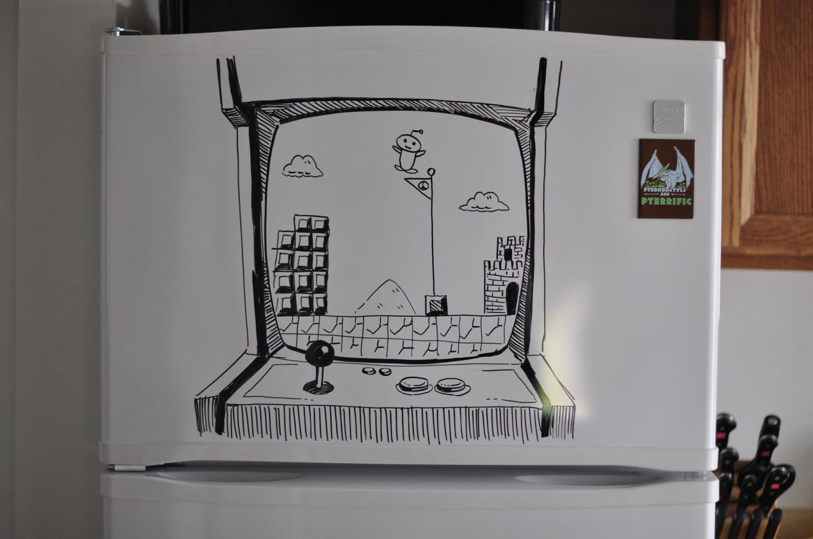 Картинка, прикольные рисунки на холодильниках
