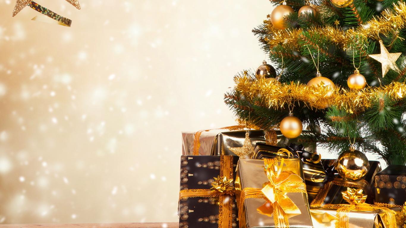 рождество, елка, игрушки, подарки скачать