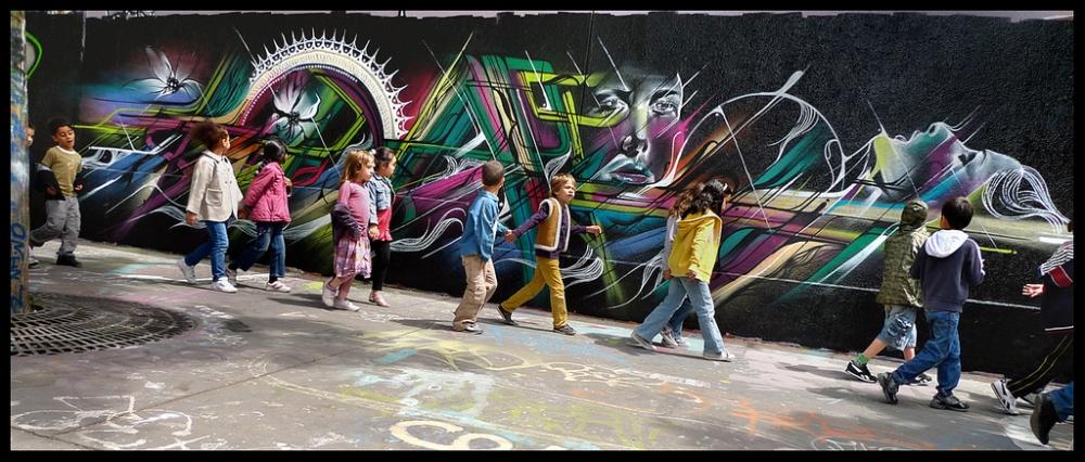 Уличные рисунки, очень красиво
