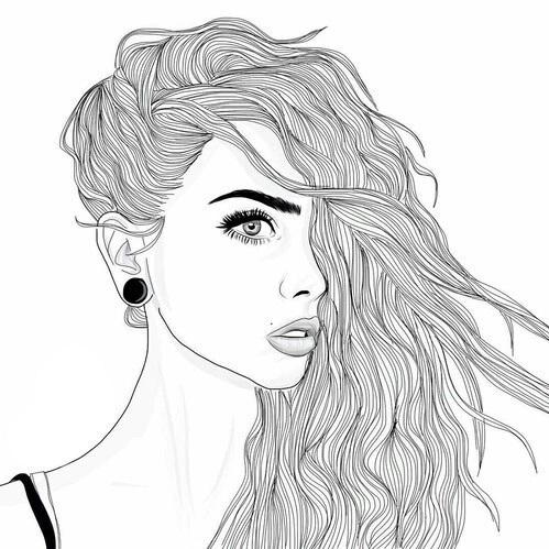 Девушка красивая нарисованная в стиле тумблер