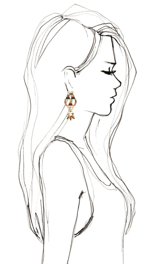 Девушка боком нарисованная карандашом