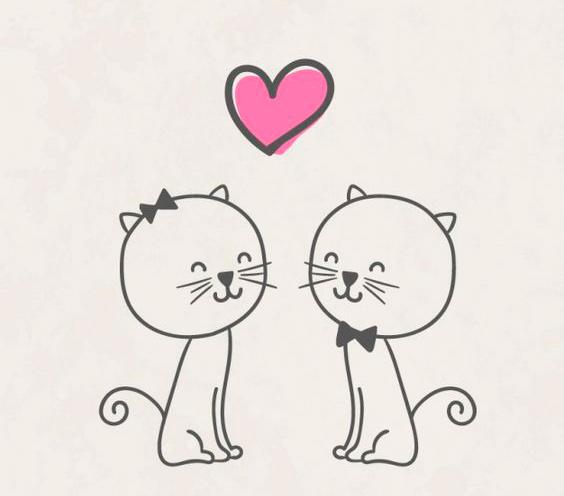 Картинки для срисовки карандашом прикольные про любовь