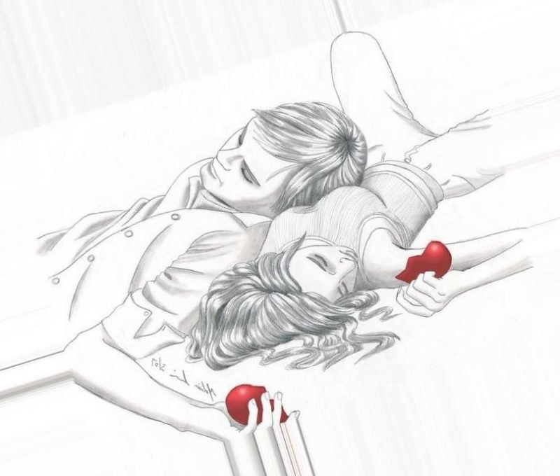 Картинки про любовь карандашом прикольные