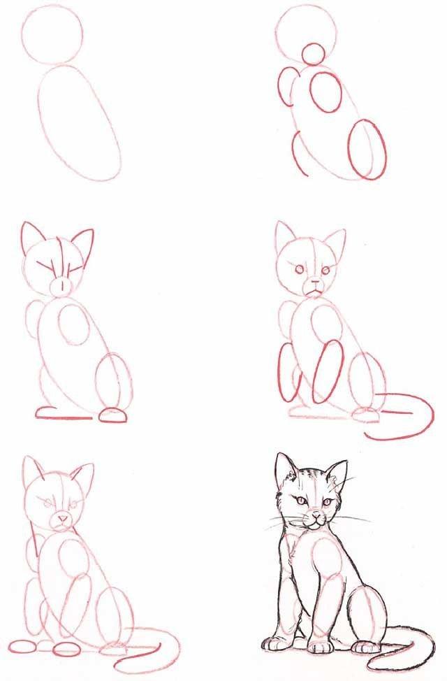 Простые поэтапные рисунки карандашом для начинающих