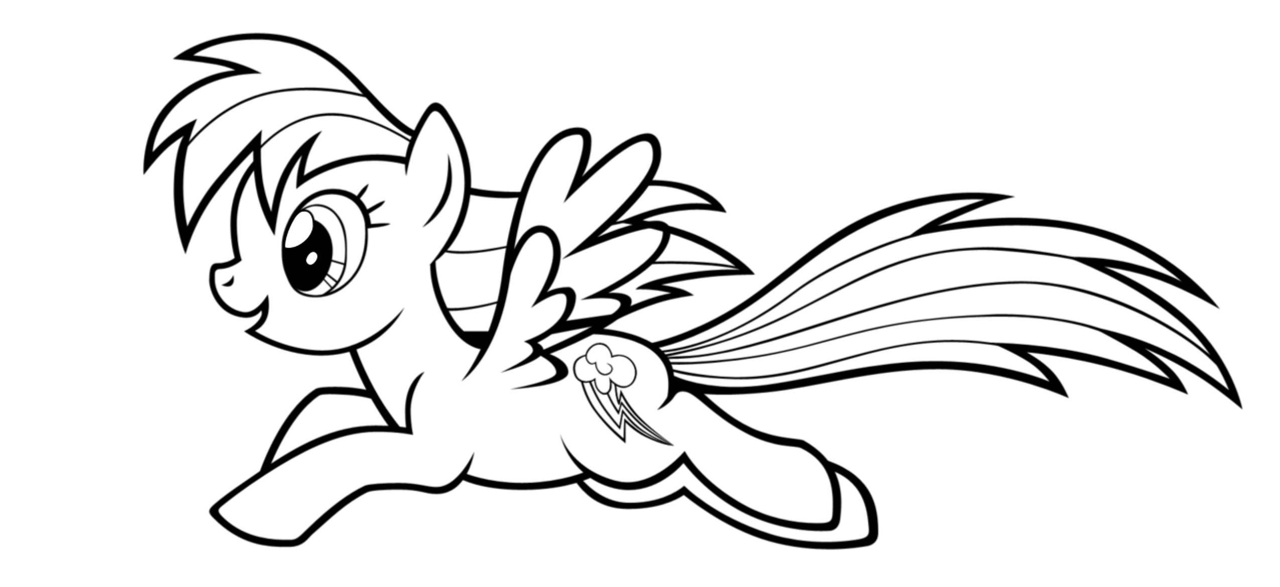 my little pony coloring pages - HD2550×1169