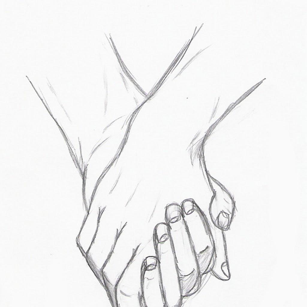 две руки держатся рисунки гости