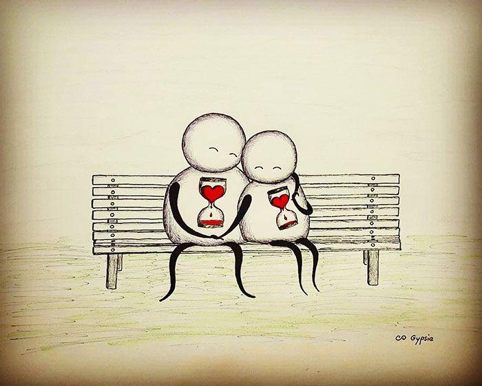 Любовь картинки прикольные рисованные