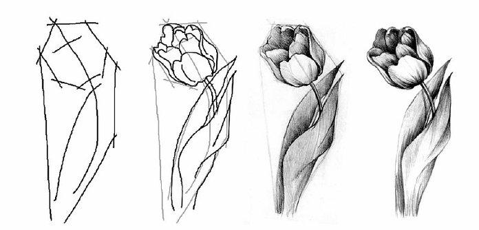 100 лучших идей тату цветы для девушек на руках и ногах с