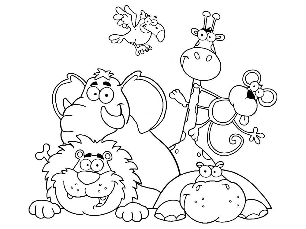 Птицы и животные раскраски детские: Картинки животных для детей: распечатать раскраски