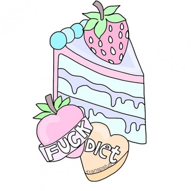 Днем рождения, прикольные картинки для срисовки вкусняшки