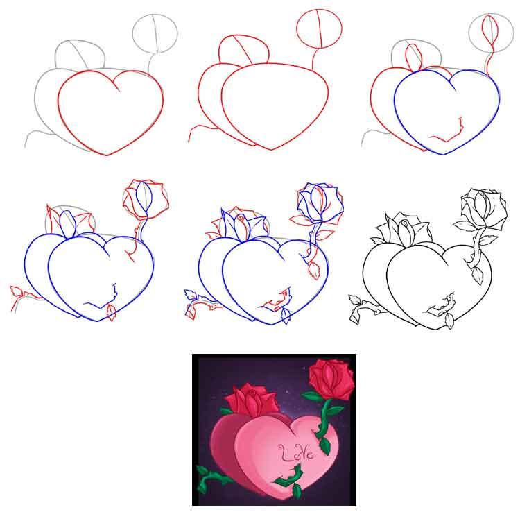 Что нарисовать бабушке открытку карандашом поэтапно, открытки для