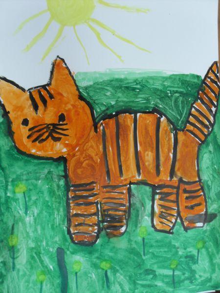 Детские рисунки домашних животных в детском саду
