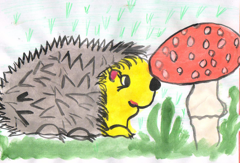 Ежик с грибочками картинки для детей