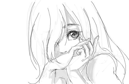 Рисунки аниме для срисовки для начинающих
