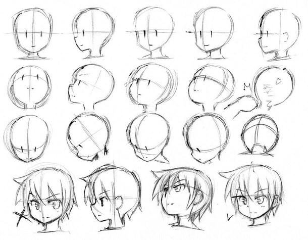 Рисунки аниме для начинающих