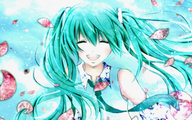 Картинки аниме девушек с длинными волосами