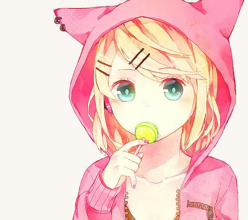 Картинки аниме девушек кошек