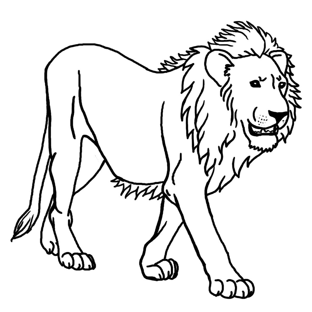 Картинка льва для детей распечатать