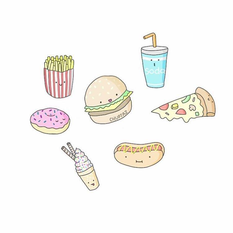 Мини рисунки для срисовки еды