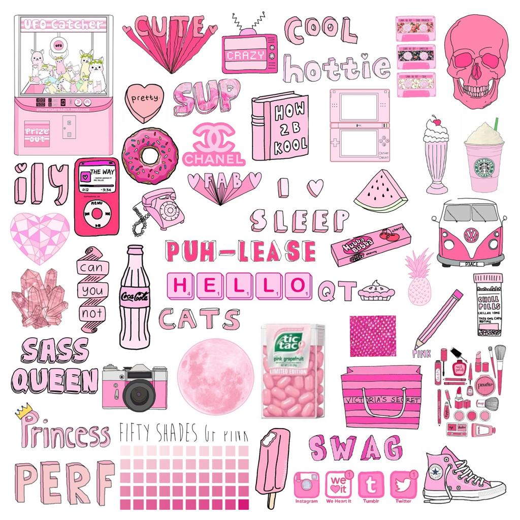 Розовая тема для личного дневника картинки для срисовки