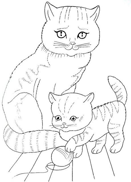 Картинки животных для раскраски для детей