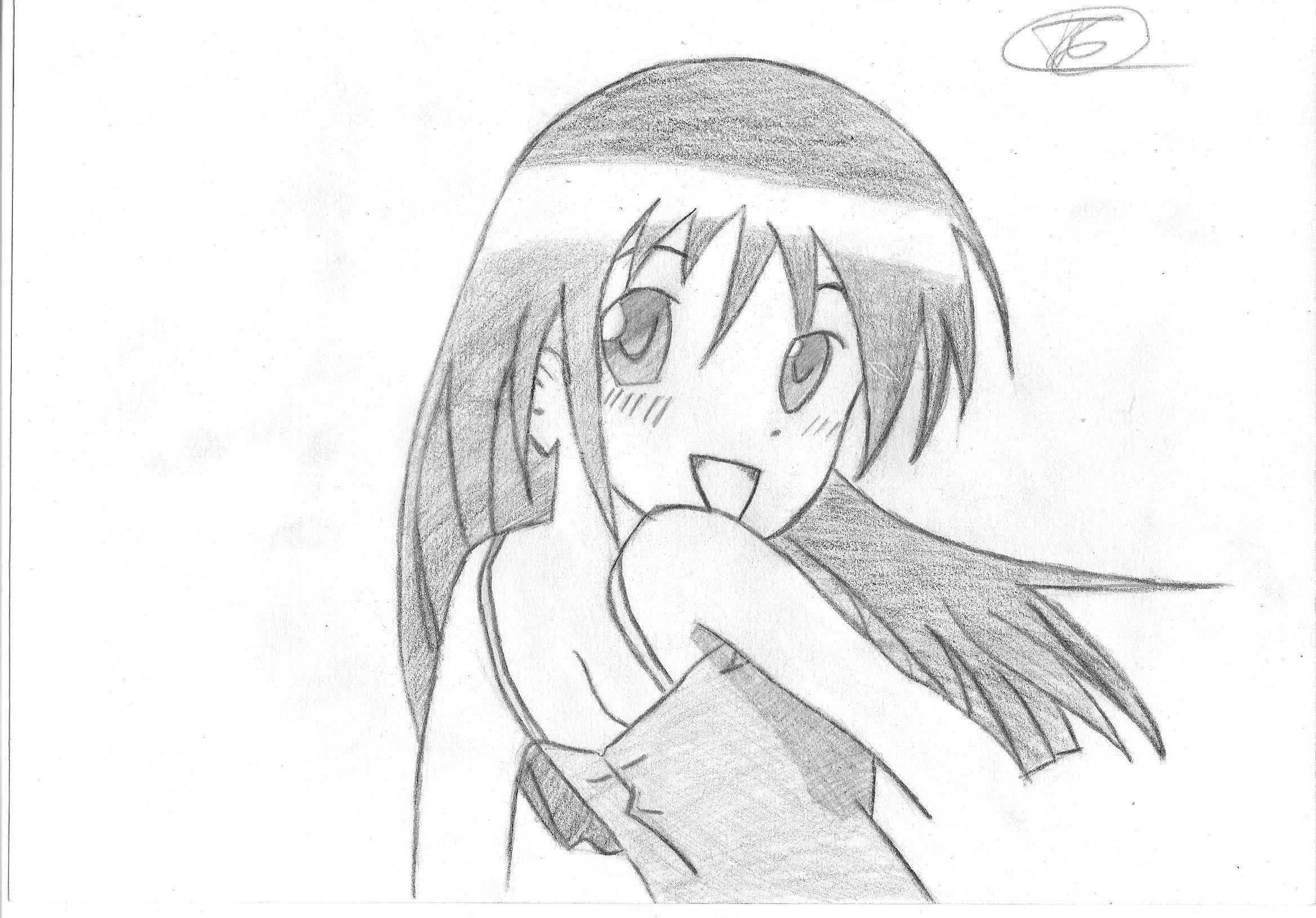 Прикольные картинки карандашом аниме