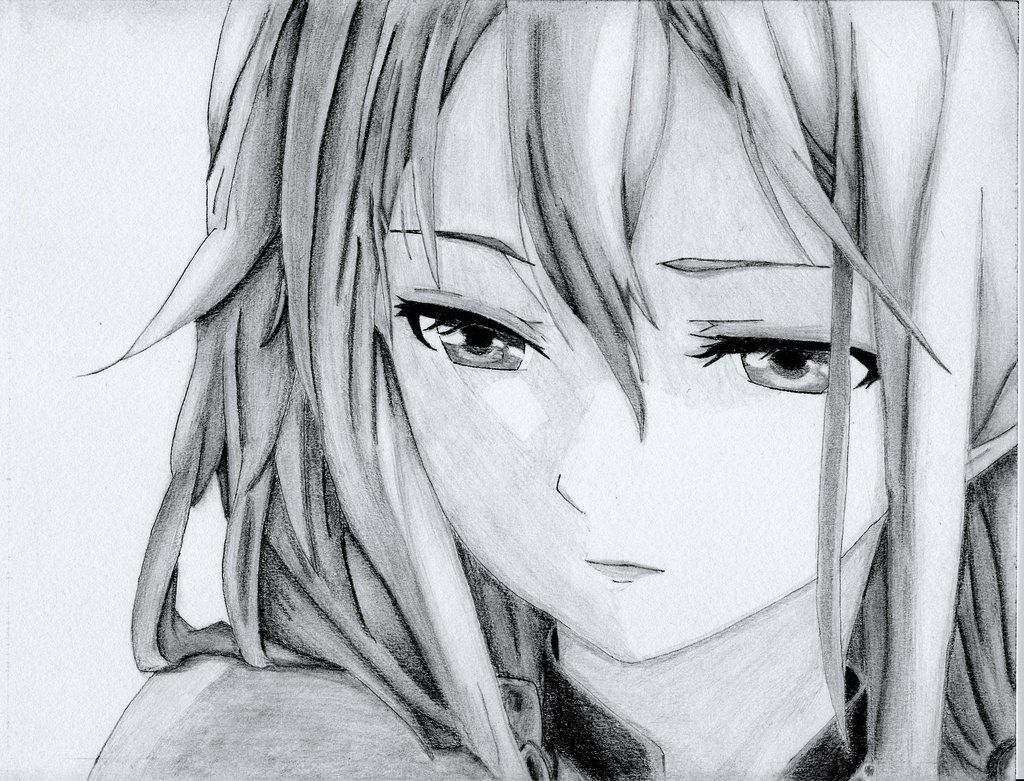 Грустные картинки карандашом аниме
