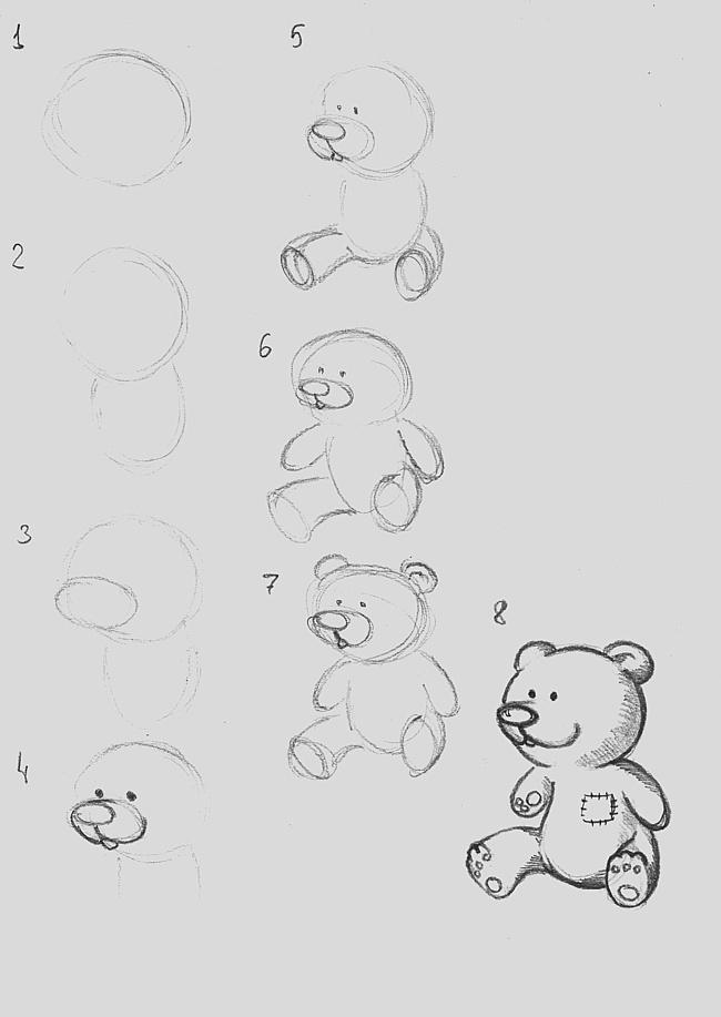 Картинки рисовать карандашом поэтапно легкие