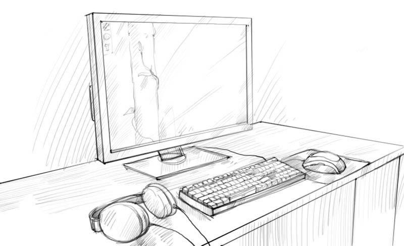 что можно срисовать с компьютера картинки надо сделать