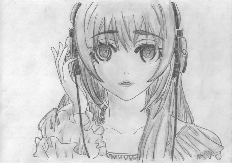 Как нарисовать аниме девушку карандашом поэтапно для ... Рисунки Карандашом для Начинающих Про Любовь Поэтапно