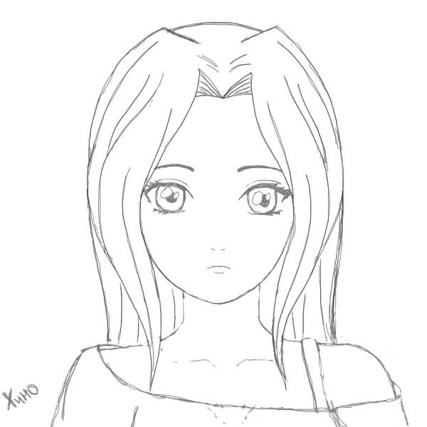 Картинки для срисовки аниме для начинающих