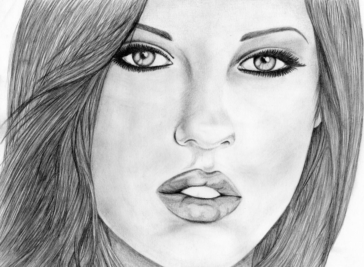 Рисунки карандашом красивые девочки