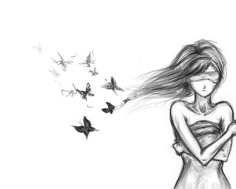Красивые девушки: рисунки карандашом