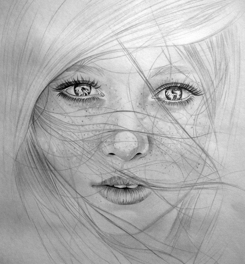 Картинки нарисовать девочку, для детей лет